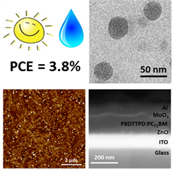 """Eco-Friendly Fabrication of PBDTTPD:PC71BM Solar Cells Reaching a PCE of 3.8% Using Water-Based Nanoparticle Dispersions"""